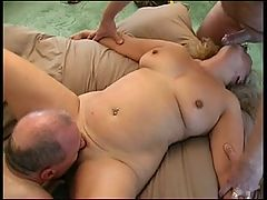 British Blonde Mature Threesome _: blondes british matures
