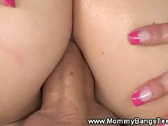 MILF drilled then stepchild does anal