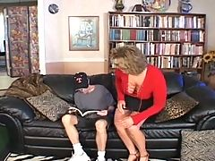 BBW Blonde Milf Seduces Young Guy _: bbw blondes cumshots matures
