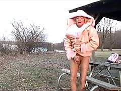 Sissy Slave& 039;s Lil Ass Warmed On A Cold Day _: femdom public nudity spanking