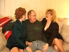 Kitty Foxx - Threeway with a Granny _: grannies stockings threesomes