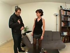 Stunning French Milf Takes It Hard ! _: anal facials milfs