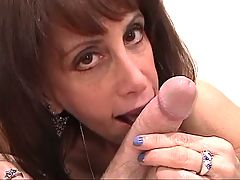 Skinny aging slutbag wraps her gross tits around white cock _: blowjobs brunettes matures tits