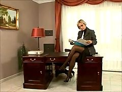 Blonde Fucked By Her Sales Staff _: blondes double penetration group